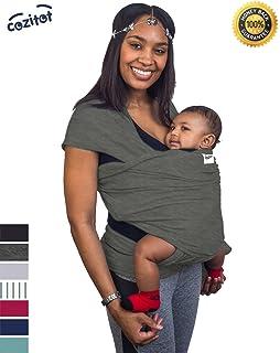 e00c4256487 Amazon.com   Innoo Tech Baby Sling Carrier Natural Cotton Nursing ...