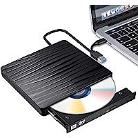 USB 3.0 Unidade externa de CD DVD tipo C USB C gravador de DVD com interface dupla, leitor portátil de DVD-RW DVD-ROM…