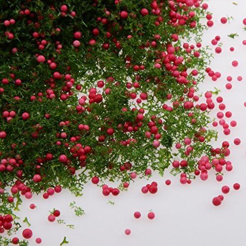 葉モデル ミニツリー 木 鉢植え 鉄道模型 風景 モデル 情景コレクション 7パタン選べ - 赤緑
