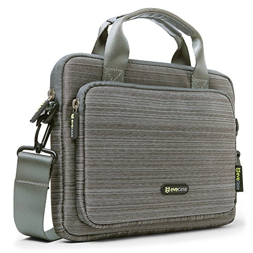 Free Evecase 9.7 ~ 10.1 inch Tablet & iPad Suit Fabric Multi-functional Neoprene Messenger Case Tote Bag with Handle and Carrying Strap