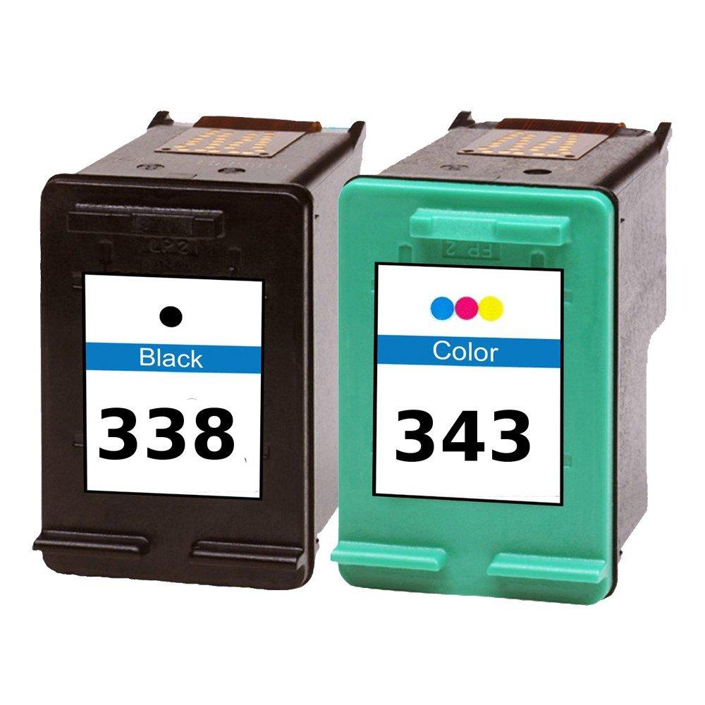 2 Cartuchos de tinta de repuesto en negro y color para HP ...