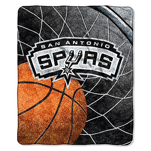 San Antonio Spurs Blanket (Officially Licensed NBA San Antonio Spurs Reflect Sherpa on Sherpa Throw Blanket, 50