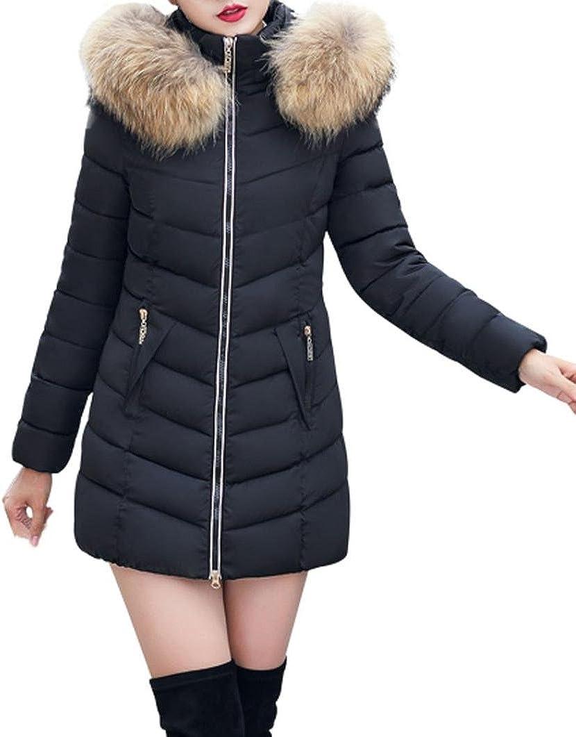 SHOBDW Moda Invierno Mujer Chaqueta Largo Grueso Caliente Abrigo Abrigo Delgado