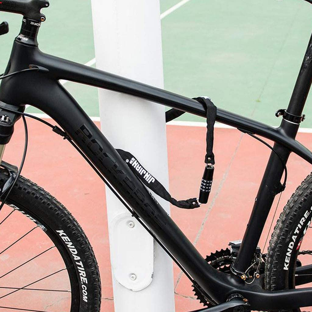 Mlide Bicycle Lock Chain Bike Lock Security Anti-Theft Bike Lock Chain New Bike Light Chain Locks