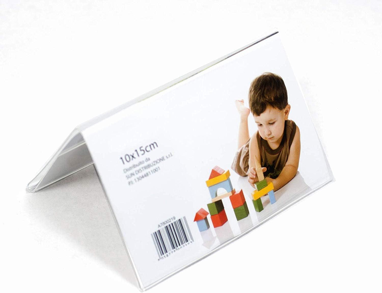 Cornice portafoto acrilico doppia da tavolo 10 x 15 Orizzontale