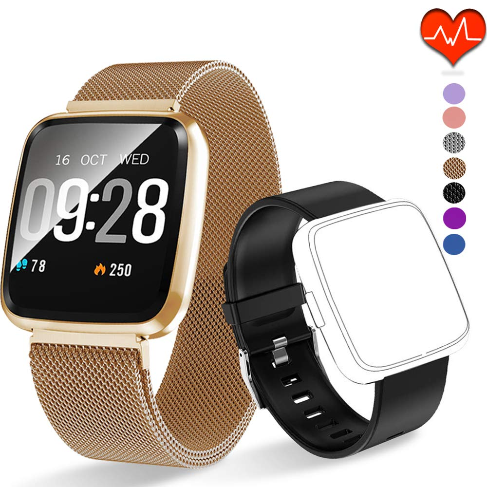 PUBU Fitness Tracker HR, Color Screen Activity Tracker Watch with Replacement Band, Waterproof Smart Watch with Heart Rate Monitor, Step Counter best fitness tracker watch