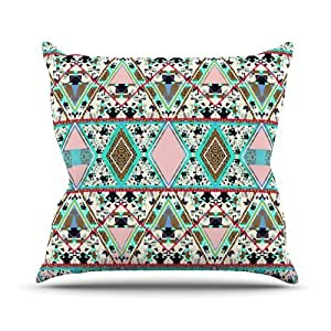"Kess InHouse Vasare Nar ""Deco Hippie"" Outdoor Throw Pillow, 26 by 26-Inch"