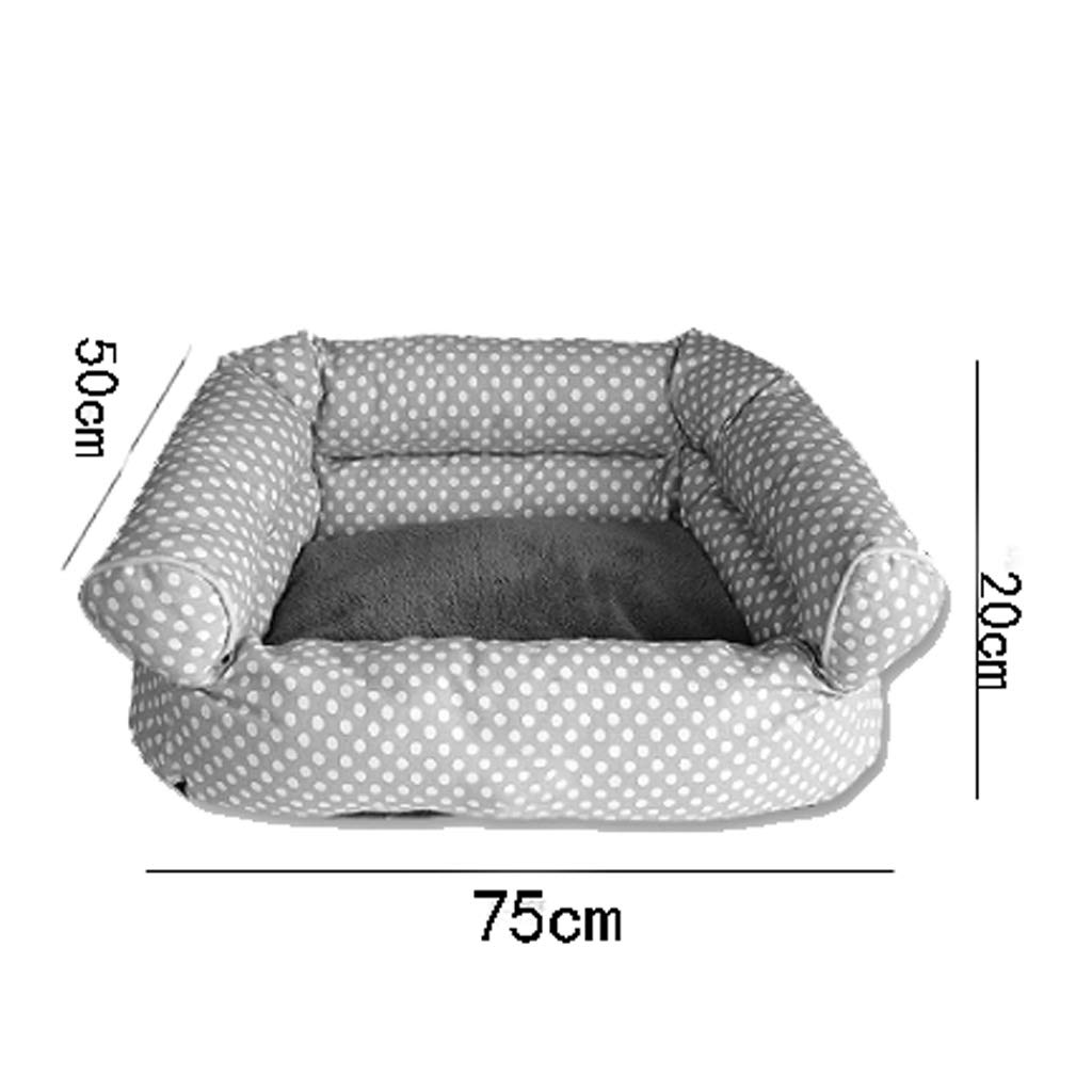 M(24 kg inside pet) bluee Wave Point Pet Nest Four Seasons Universal Removable And Washable Small Medium Velvet Cat Kennel Villa Warm Cushion Sofa MUMUJIN (Size   M(24 kg inside pet))