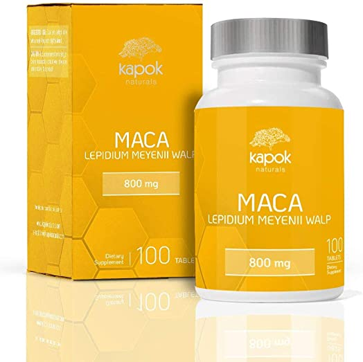 Kapok Naturals Maca Root 100 x 800mg Maca Root Tablets Peruvian Maca Root for Men Maca for Women. Alleviate Stress, Fatigue and Increase Energy. Maca Root Pills also available in Maca Capsules