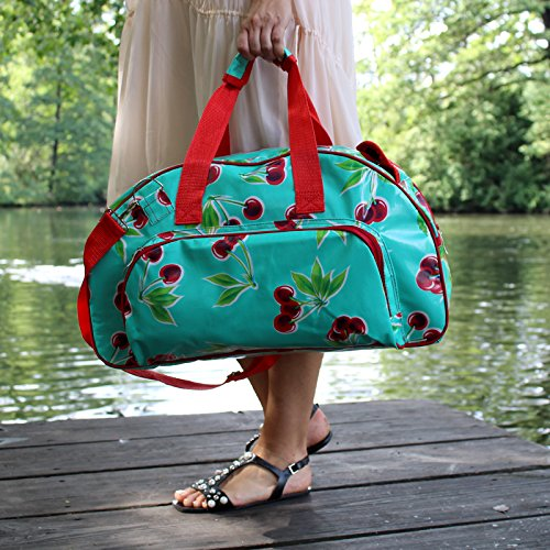 Borsa in tela cerata - Weekender bag - Borsa da viaggio, per la piscina, sauna, fitness - per donna - impermeabile, multicolore, vintage, fiori