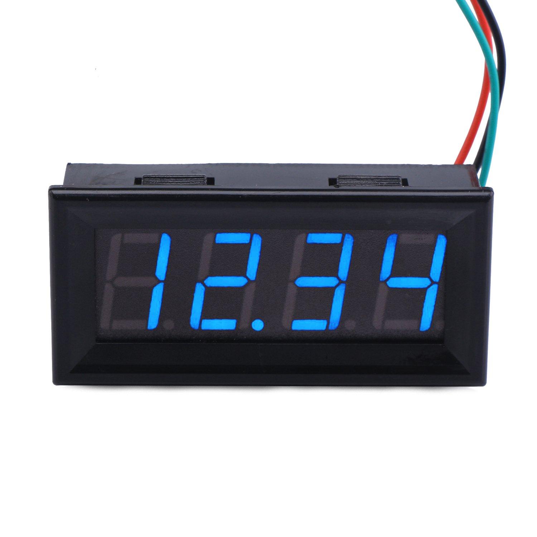 DC 0~30V 3 Bit Digital LED Voltmeter Panel Voltage Meter 5V 12V 24V Car Battery
