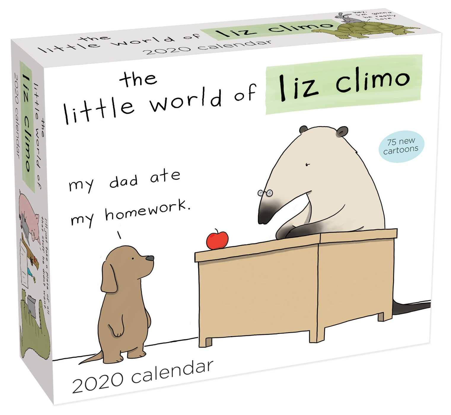 Ou 2020 Calendar The Little World of Liz Climo 2020 Day to Day Calendar: Liz Climo