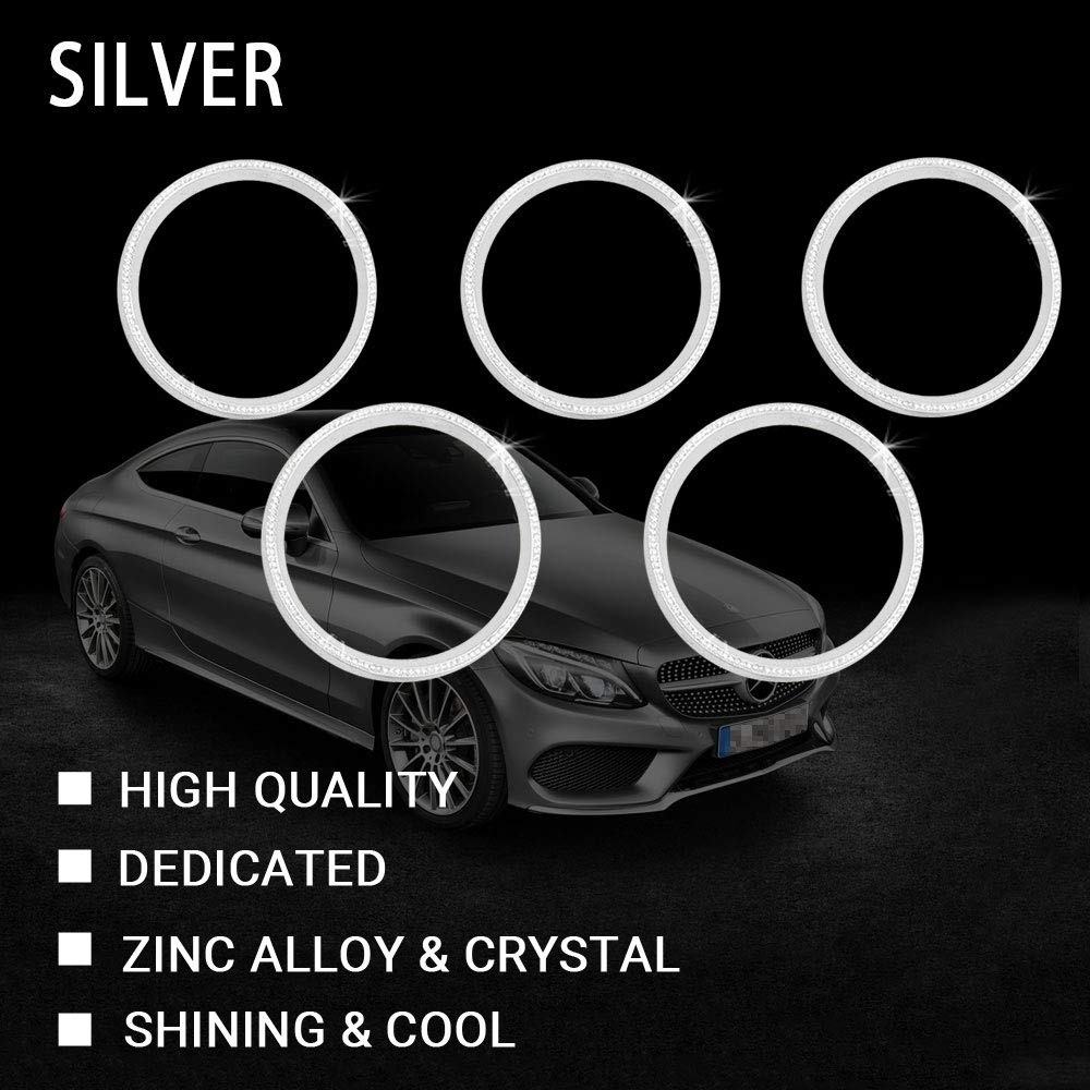 1797 Mercedes Accessories Benz Parts Trim Air Conditioner Control Switch Knob Regulator Caps Cover Decals Interior Visors Decorations W204 W246 C117 X156 C CLA GLA AMG Women Men Bling Crystal Gold