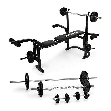 Klarfit Fitness Set Pack Complet De Musculation Avec Banc