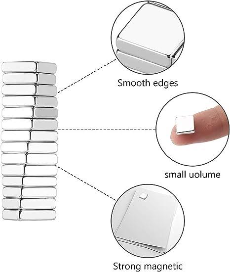 fuerza adhesiva extra,50x10x5mm Imanes autoadhesivos con pel/ícula adhesiva Wukong 10 Pedazo imanes de neodimio Imanes fuertes adhesivos con cinta adhesiva de 3M