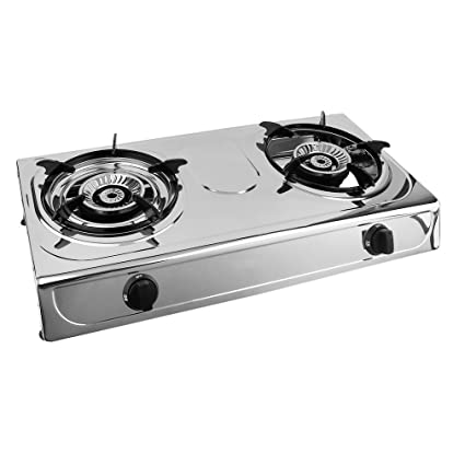Exceptionnel Homgrace Propane Gas Stove Double Burner Portable Stove Household Stainless  Steel Furnace Durable Advanced Camping Cooker