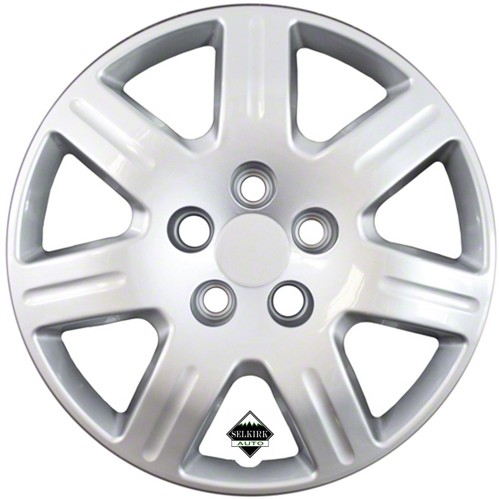 Set of 4 Silver 16 Inch 7 Spoke Replacement Honda Civic Hubcaps w/ Bolt On Retention System - Aftermarket: IWC452/16S by IWC (Image #1)