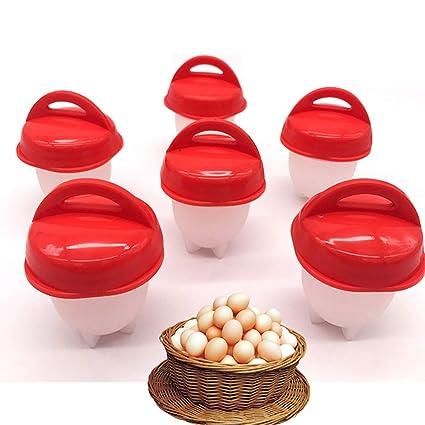 6PCS Food grade Silicon Egg Boiler Hard Boiled Egglettes Egg Cooker Kitchen