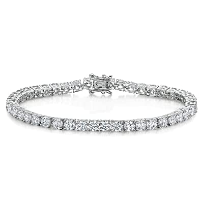 JOOLS by Jenny Brown ®- Sterling Silver Bangle- With One Cubic Zirconia Set Stone 1wuhK