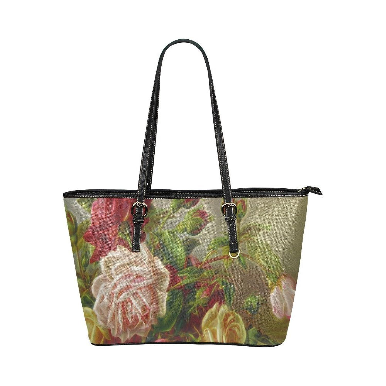 Nicedesigned Tote Bag A Rose Leather Tote Shoulder Bag Handbag for Women Girls