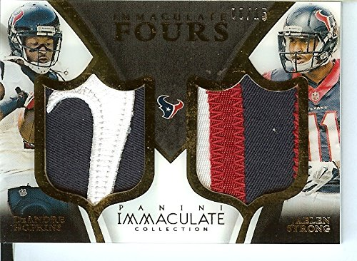 2015 Chaste Collection Fours Patches #50 Cecil Shorts III/DeAndre Hopkins/Jaelen Strong/Nate Was