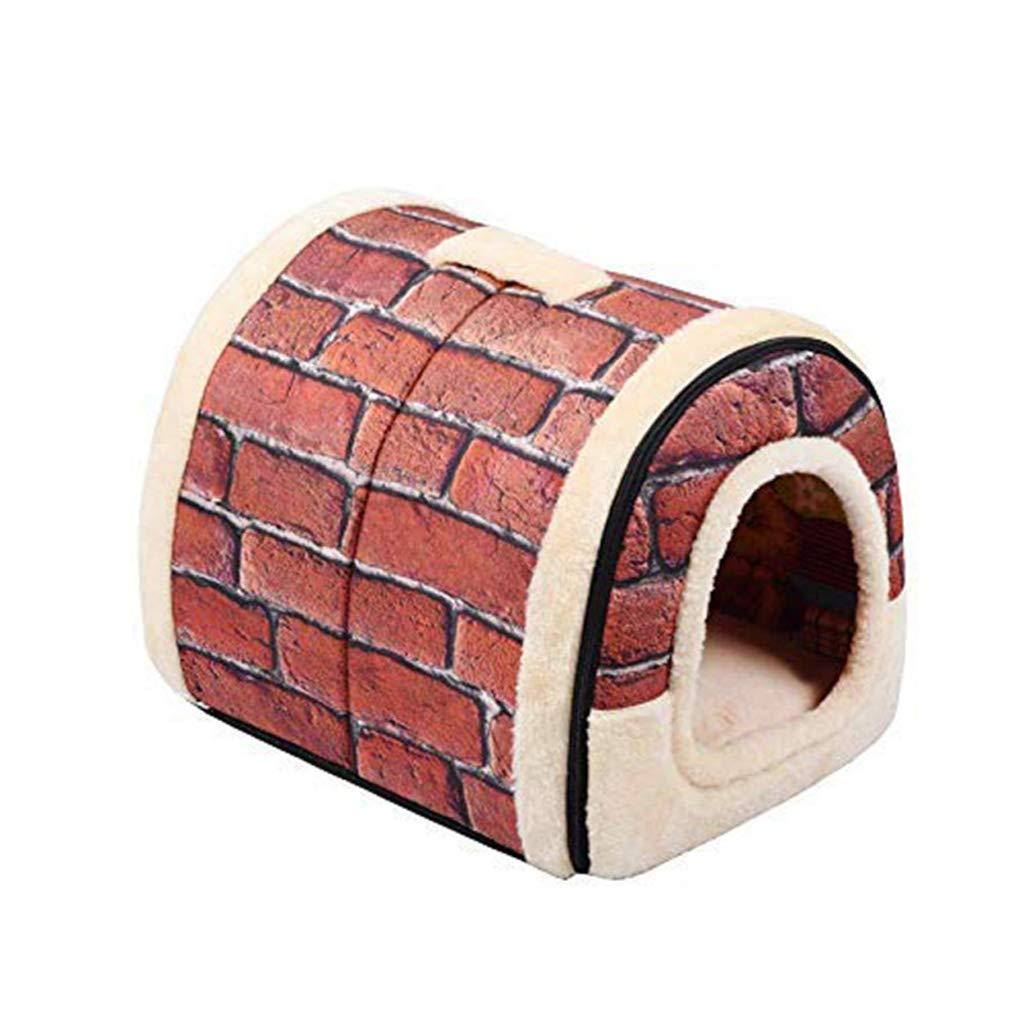 SXY Pet Dog House Nest e Pad Pieghevole Pet Dog Bed Cat Bed House per Piccole e Medie canile da Viaggio (Dimensione   36  29  26cm)