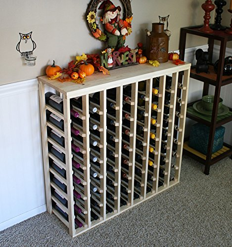 Creekside 64 Bottle Table Wine Rack (Pine) by Creekside – Exclusive 12 inch deep design conceals entire wine bottles. Hand-sanded to perfection!, Pine