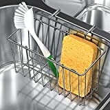 Tdbest Sponge Holder 304 Stainless Steel Sink Organizer Caddy Rack for Kitchen Accessories Dish Brushes Towel Dishwashing and Sink Supplies