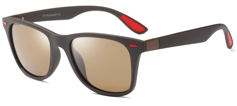 FEISEDY Retro Polarized Driving Sunglasses TR90 Frame Men Women UV400 B2433