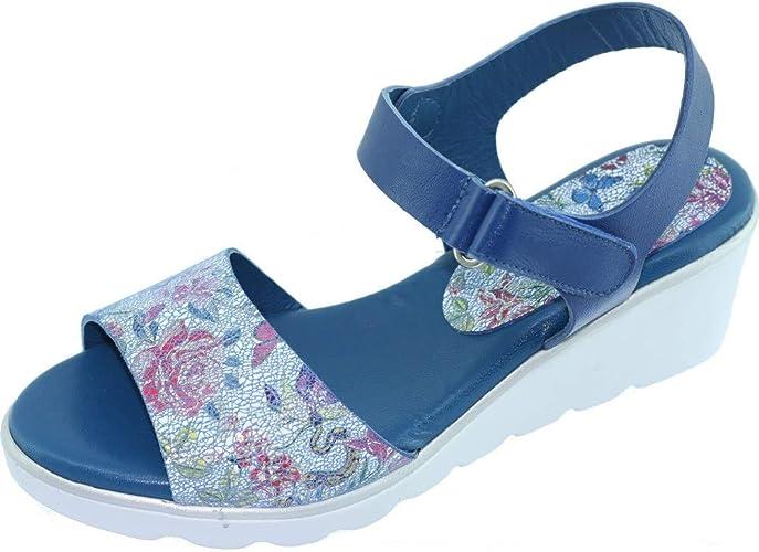 Compensée Confort Scratch Ebony Sandale A Velcro Angelina® 5c4jLAqR3