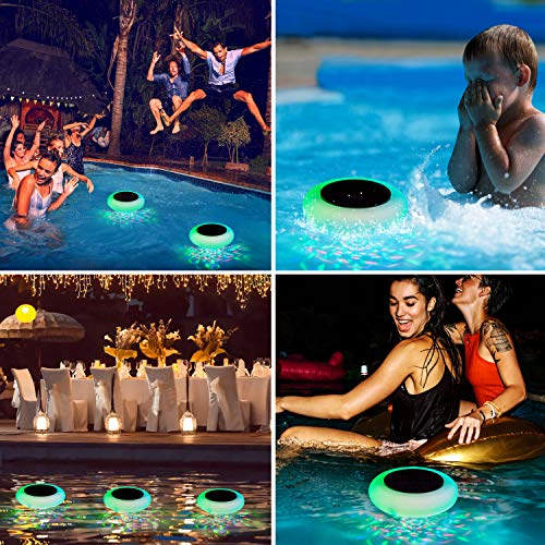 SUNWIND Swimming Pool Lights Floating Solar Underwater RGB Pond Lights Waterproof with Multi Color LED for Pool,Pond,Tub or Party Decorations(1 Pack)