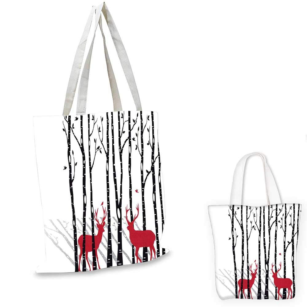 AntlersDeer 木の森 赤いホリデーテーマのフライングリーフ 枝 トナカイ赤 黒 グレー 白 12