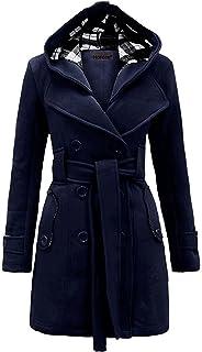 MyMixTrendz- Mujer Abrigo de Polar con Capucha con cinturón Top Plus tamaños 8 – 20
