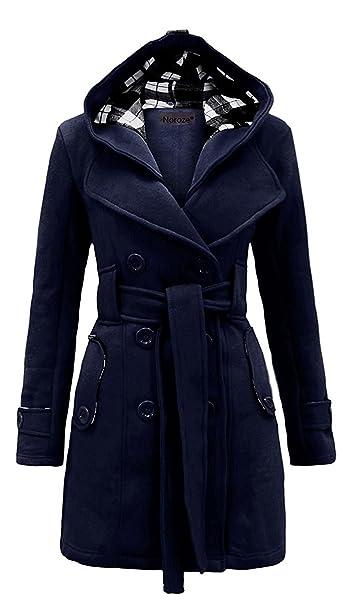 MyMixTrendz- Mujer Abrigo de Polar con Capucha con cinturón Top Plus tamaños 8 - 20: Amazon.es: Ropa y accesorios
