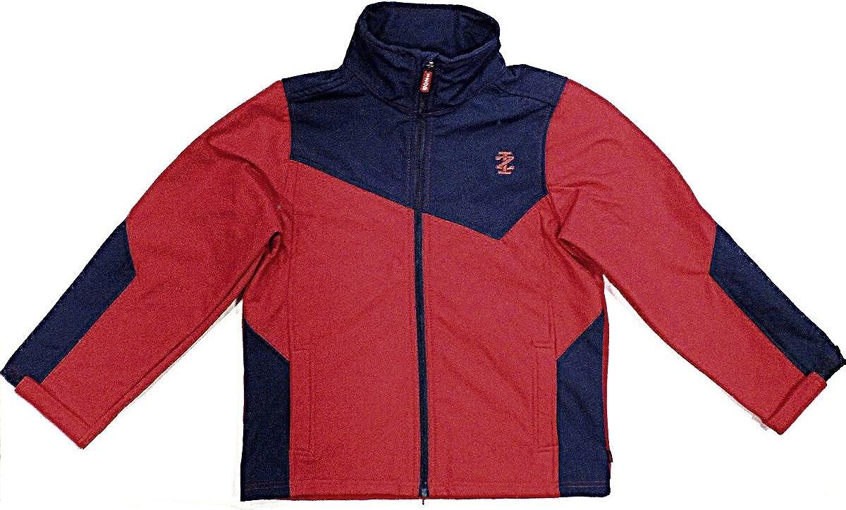 IZOD Boys Soft Shell Windbreaker Jacket - Medium (10-12 YRS.) Red/Blue