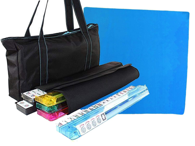 最新情報 Free Tabletop wtih Cover + American Mahjong Set Western Pushers/Racks Waterproof Black Nylon wtih Blue Stitches Bag 4 Colour Pushers/Racks Western Mahjongg B01N7UHGB5, vely:d95d4495 --- yelica.com