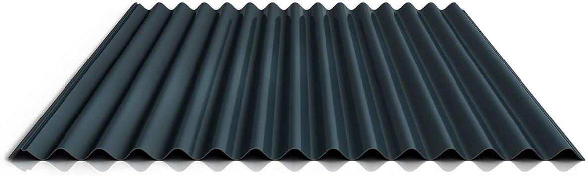 St/ärke 0,70 mm Material Aluminium Profilblech Beschichtung 25 /µm Farbe Anthrazitgrau Profil PA18//1064CR Wellblech Dachblech