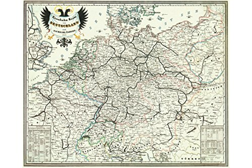 Antique Map; Bahnkarte; 1849 (Germany Antique Map)