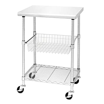 24u0026quot; W X 20u0026quot; D Stainless Steel Kitchen Worktable Cart