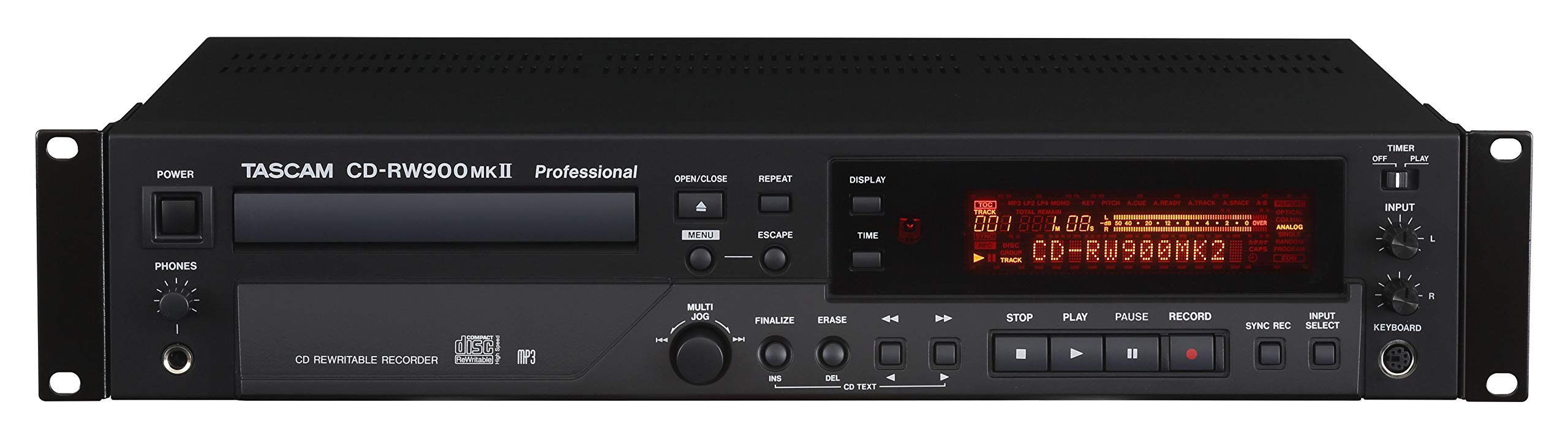 Tascam CD-RW900MKII Professional Rackmount CD Recorder/Player