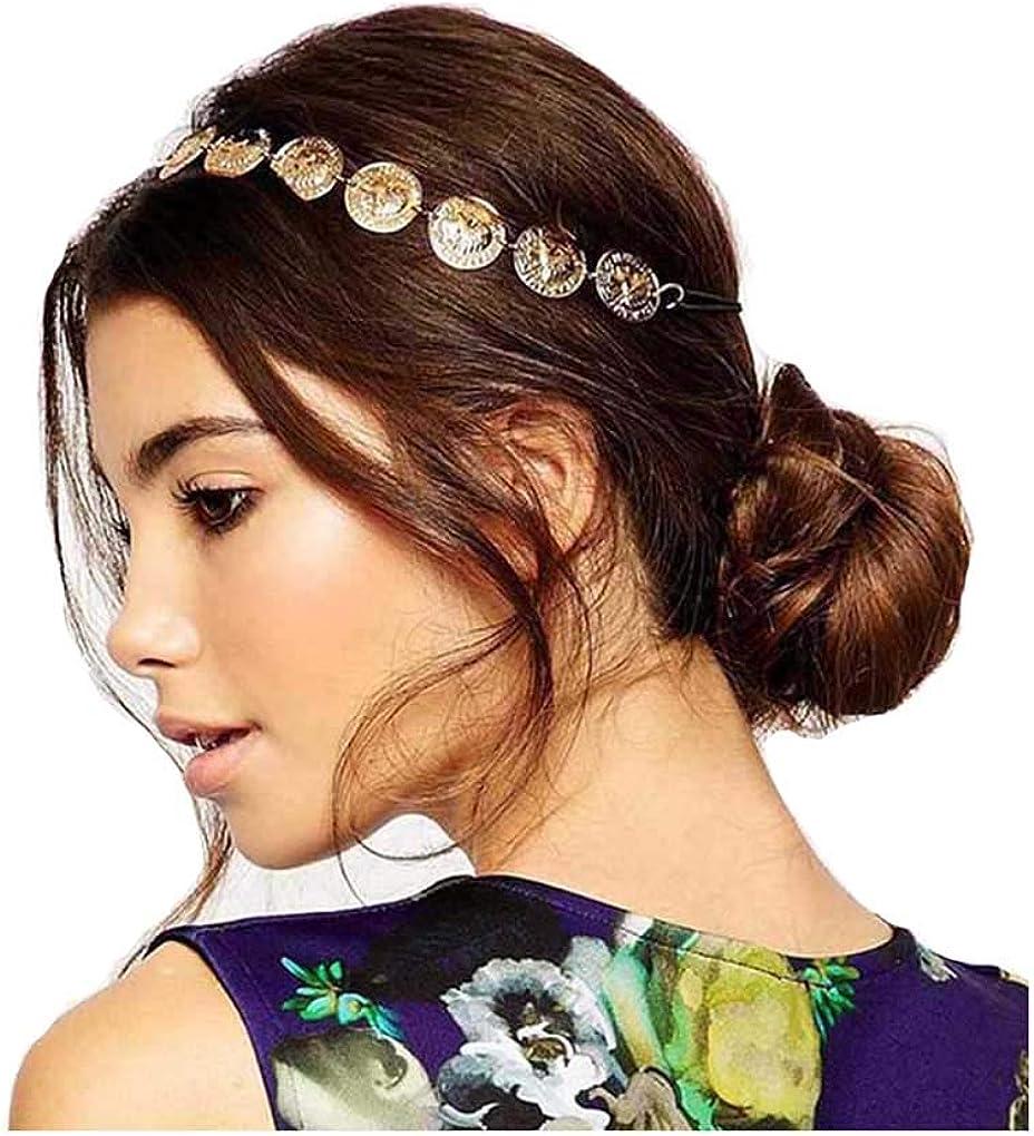 Fashion Women Elastic Metal Head Chain Jewelry Hair Band Hair Accessories