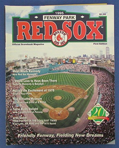 1995 Boston Red Sox Official Program Magazine 1st Edition Fenway Park 124042 by Best Authentics