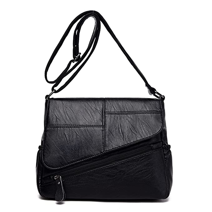 Amazon.com: phtess hembra bolsas de mensajero de piel bolsas ...
