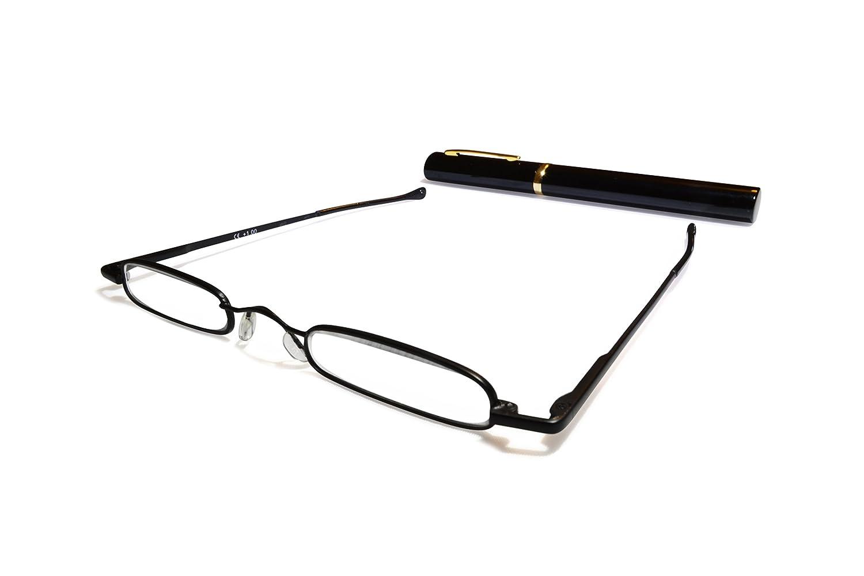 7071e22f428e Metal Black Reading Glasses +2.5