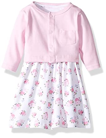 f325df904d3a Amazon.com  Luvable Friends Dress and Cardigan Set  Clothing