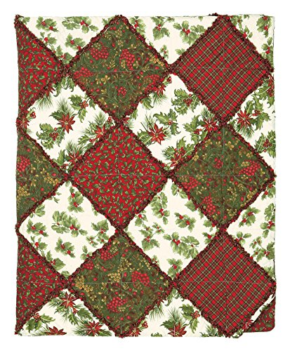 Great Finds 0515 Carol Patchwork Rag Winter & Holly Patte...
