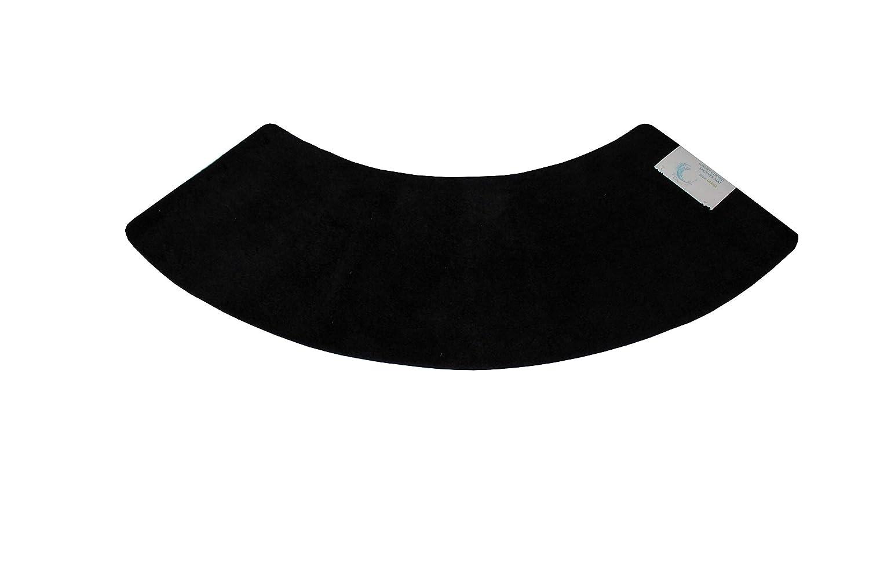Cazsplash Luxury Quadrant Large Curved Shower Mat, Microfibre, Black, 140 x 45 x 2.5 cm 706502080341
