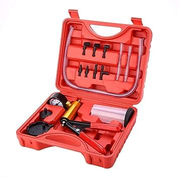 KIMISS Kit de herramientas de sangrado de freno + Bomba de vacío de purga de freno + Probador de vacío para la Motocicleta y Coche: Amazon.es: Coche y moto