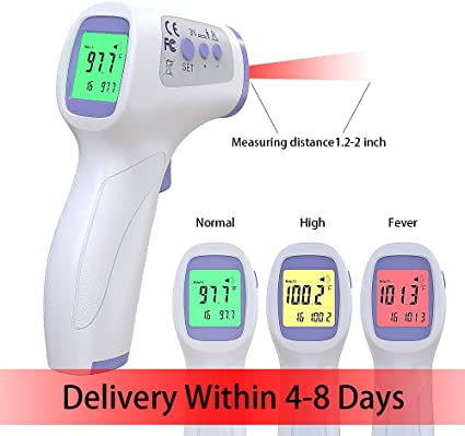 Kids Infants Digital Infrared Temporal Thermometer for Fever with Alarm Child Non-Contact Medical Infrared Thermometer for Baby Adult Forehead Thermometer