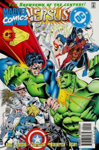 Marvel Versus DC #3 : Round Three (DC - Marvel Comics) (Wolverine Vs Spiderman Vs Hulk Vs Batman)